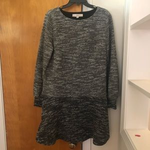 Loft Large Long Sleeved Dress